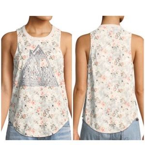 NWT CHASER   Def Leppard Floral Tank Top Sz. S